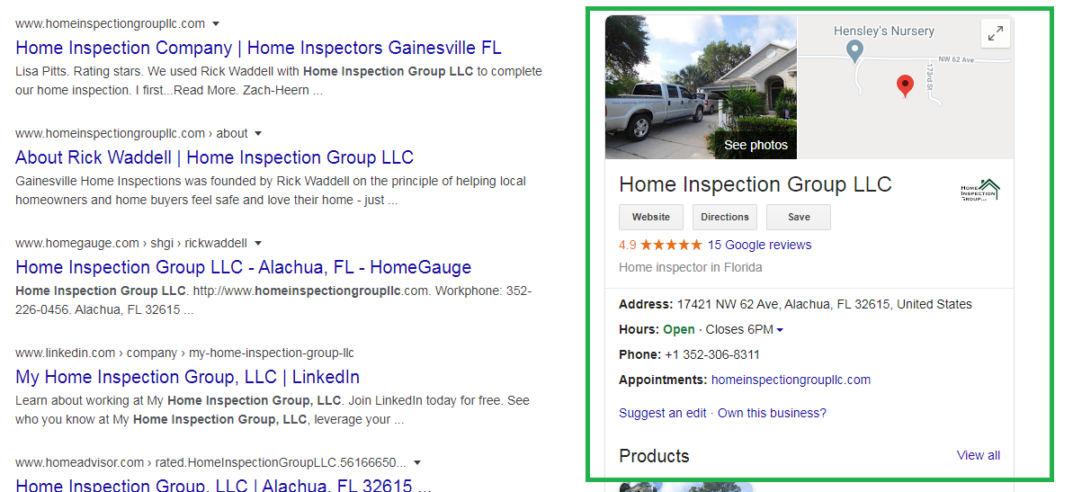 Gainesville Home inspection Local listing